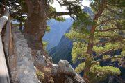 Walking trail in the Samaria Gorge