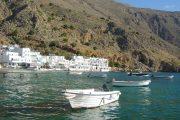 Boat in Loutro harbour, Crete