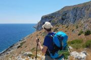 Hiking at Punta Palascia, the easternmost point in Italy
