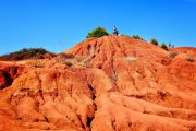 Hiking at the bauxite quarry, Otranto