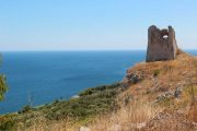 One of many old lookout towers along the Salento coast