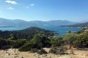 View to the Peloponnese peninsula from Poros island