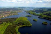 The lakes of Silkeborg seen from above