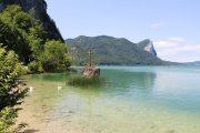 Lake Mondsee and cross