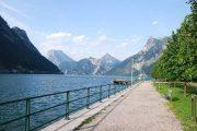Lake Traunsee walking path in the Salzkammergut