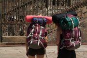 Weary pilgrims finally reaching Santiago