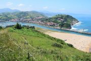 Approaching Zumaia on the Camino del Norte