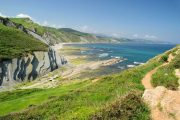 The rugged Basque coastline at Zumaia