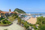 The Basque coastal town of Getaria on the Camino del Norte