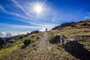 Hiking in winter sunshine in Madeira