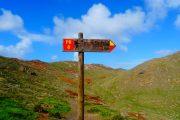 Sao Lourenco hiking signpost Madeira