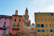 The cathedral and pastel-coloured houses of Menton