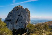 The limestone mountains of the Alpilles
