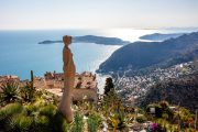The medieval perched village of Eze on the Cote d'Azur