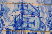 Tiles depicting Portugal's rich maritime heritage