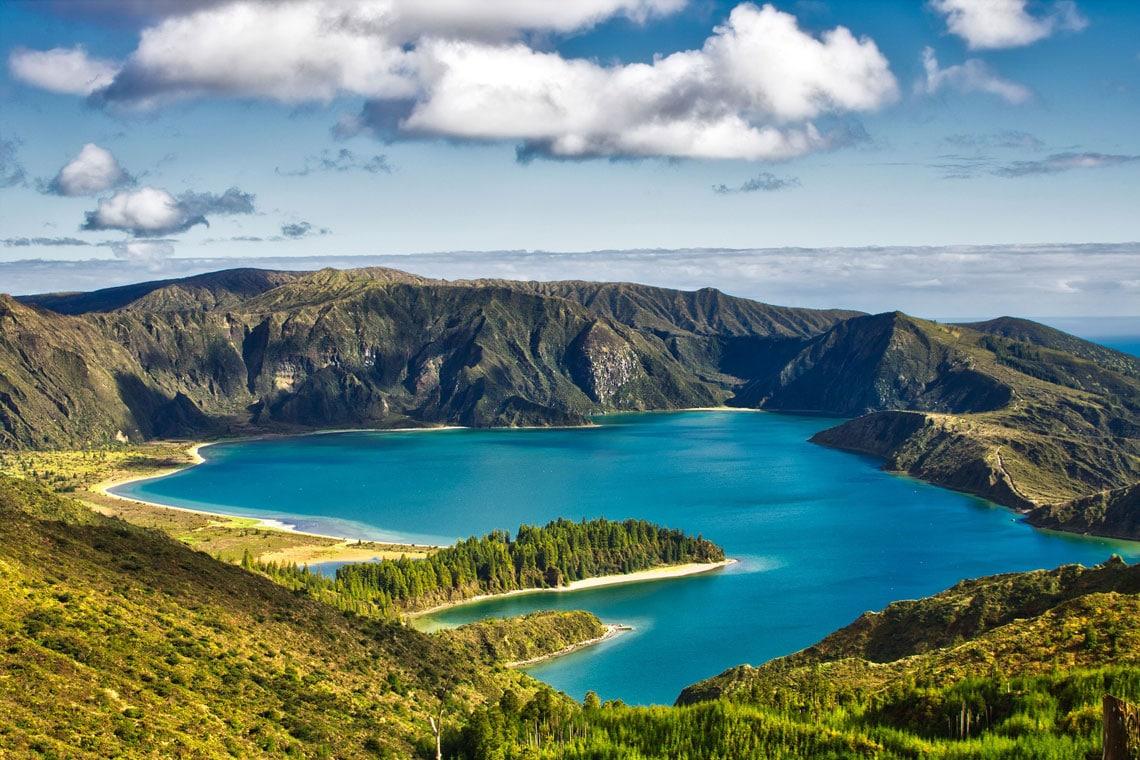 Lagoa do Fogo on Sao Miguel island in the Azores