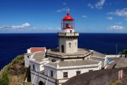 The lighthouse at Ponta do Arnel on the island of Sao Miguel