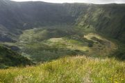 Crater on Faial island in the Azores