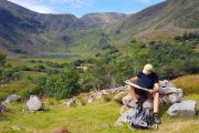Map reading in the Black Valley, on the Kerry Way