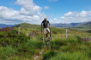 Hiking on the Kerry Way, Spunkane Hill near Waterville
