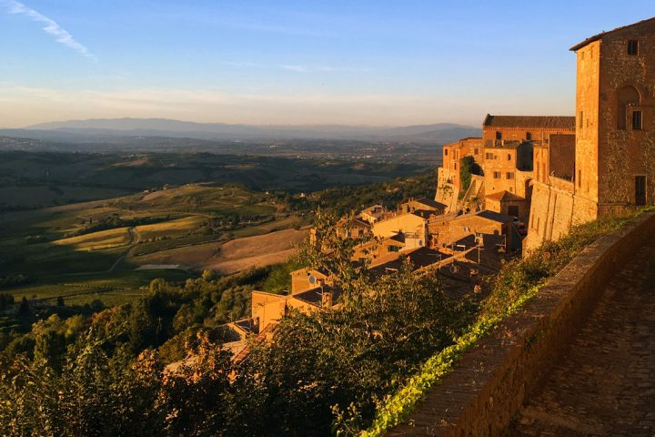View of the Tuscan countryside from Montepulciano