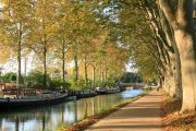 Leaving Toulouse along the Canal du Midi