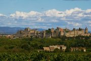 The medieval hilltop citadel of Carcassonne