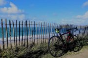 Bicycle and beach, Brittany