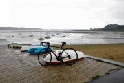 bicycle on a quiet beach in Brittany