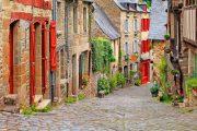 Typical cobbled street, Dinan