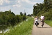 Cycling along the rural canal paths