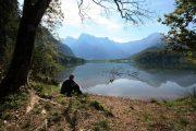 Taking a break at Lake Almsee