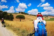 Cycling in the Val d'Orcia