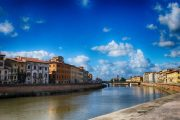 Pisa on the river Arno