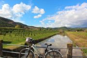 Tuscan canal and bicycle
