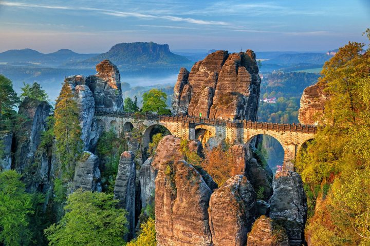 Walking in the Elbe Sandstone Mountains