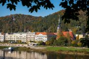 Begin in the picturesque spa town of Bad Schandau