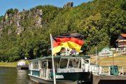 Elbe river ferry, Rathen