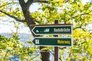 Signposts for the Malerweg (Painters Way) and Bastei Bridge