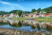 The picturesque village of Wehlen on the Elbe