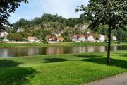 The village of Rathen on the Elbe