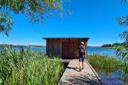Birdwatching hut at the Sjælsø wetlands