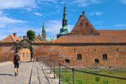 Entering Frederiksborg Castle