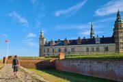 Kronborg Slott, better known as the Elsinore Castle of Shakespeare's Hamlet