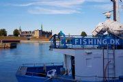 Helsingør fishing boat and Kronborg Castle
