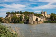 The medieval Pont d'Avignon