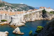 The medieval walled city of Dubrovnik