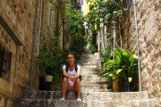 Taking a break in Dubrovnik's old town