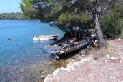 Boats on Mljet island