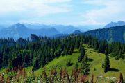 Alpine landscape around Lake Chiemsee